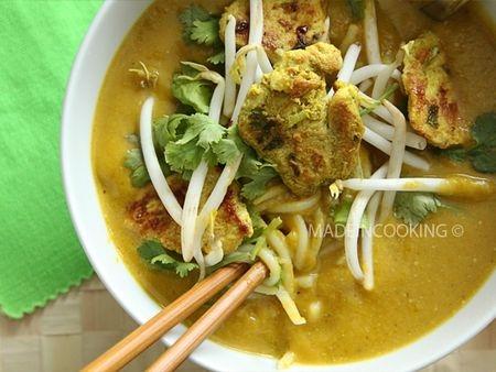 Recette soupe de butternut au lait de coco et au curry vert - Soupe potiron lait de coco curry ...