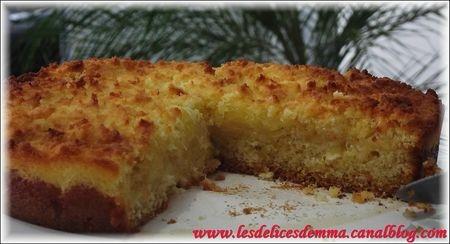 Recette g teau moelleux aux pommes et croustillant la noix de coco les d lices d 39 emma - Gateau aux noix et pommes ...