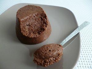 Recette flan g teau poire chocolat hyperprot in au psyllium sans sucre et sans oeufs - Gateau au chocolat sans sucre ...
