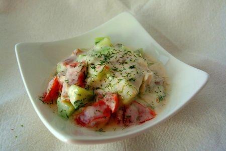 recette salade de tomate et concombre au yaourt. Black Bedroom Furniture Sets. Home Design Ideas