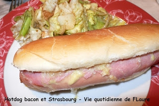 Hot dog bacon et Strasbourg