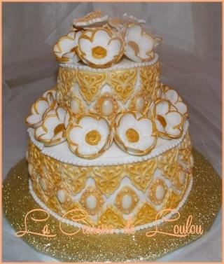 Recette de Wedding cake gâteau de mariage en pâte à sucre