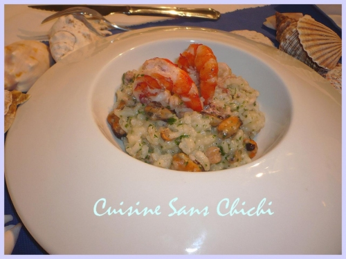 recette risotto aux fruits de mer 188786. Black Bedroom Furniture Sets. Home Design Ideas