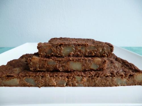 Recette g teau poire chocolat aux c r ales prot in es au psyllium et l 39 extrait pur de st via - Gateau sans sucre ni beurre ...