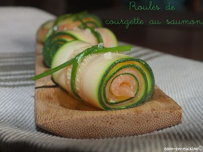 recette roul de courgette au saumon fum. Black Bedroom Furniture Sets. Home Design Ideas