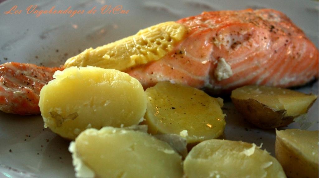 Recette saumon et pommes de terre beurre au sel fum - Pomme de terre au beurre ...