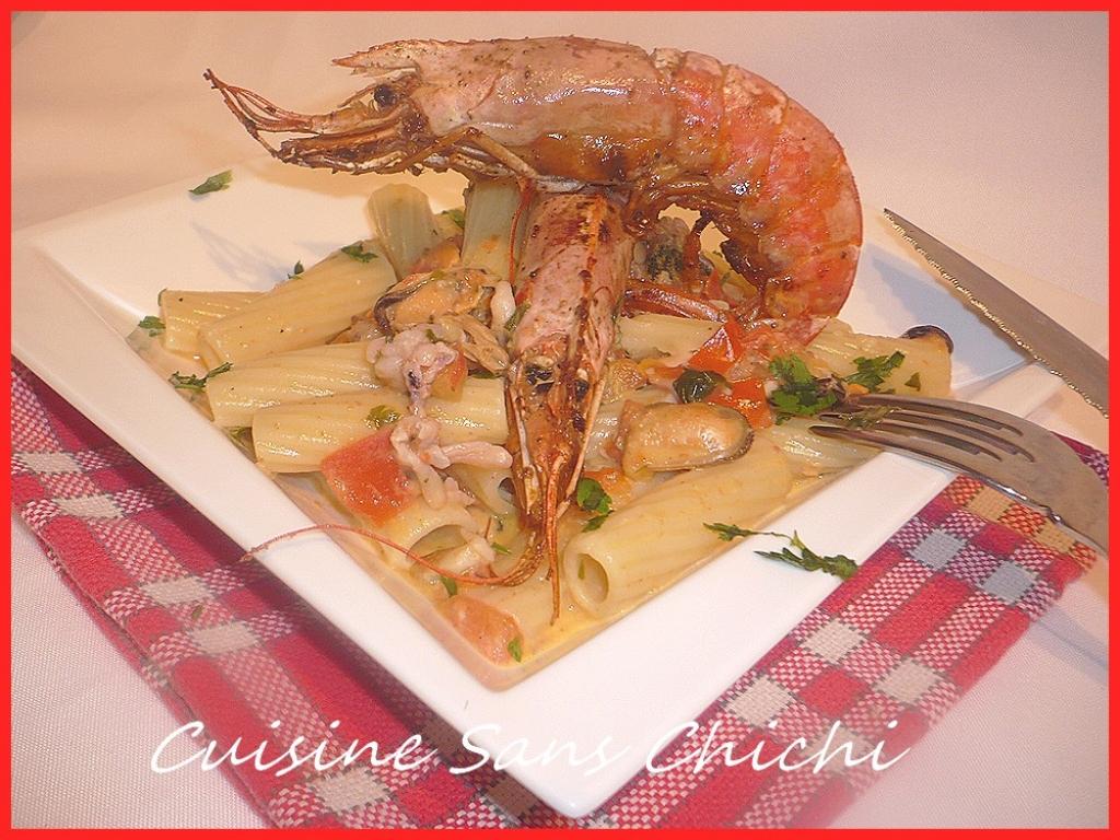 Recettes de vin blanc sec - Pates aux fruits de mer vin blanc ...
