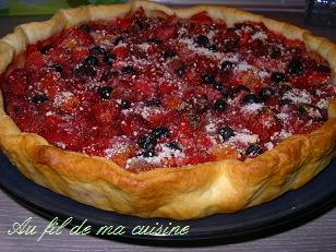 recette tarte aux fruits rouges de laurent mariotte. Black Bedroom Furniture Sets. Home Design Ideas