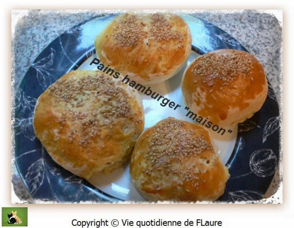 Recette pains hamburger maison vie quotidienne de flaure - Recette hamburger maison original ...