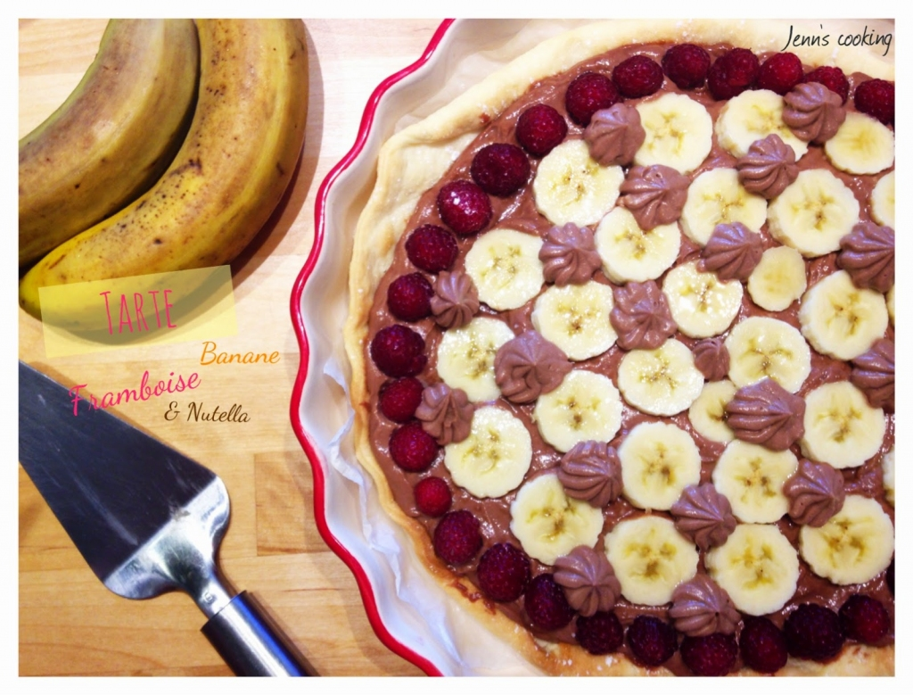 recette tarte aux framboises bananes mascarpone nutella. Black Bedroom Furniture Sets. Home Design Ideas