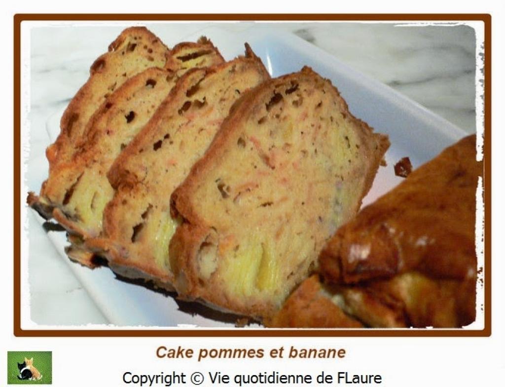 recette cake aux pommes et banane vie quotidienne de flaure. Black Bedroom Furniture Sets. Home Design Ideas