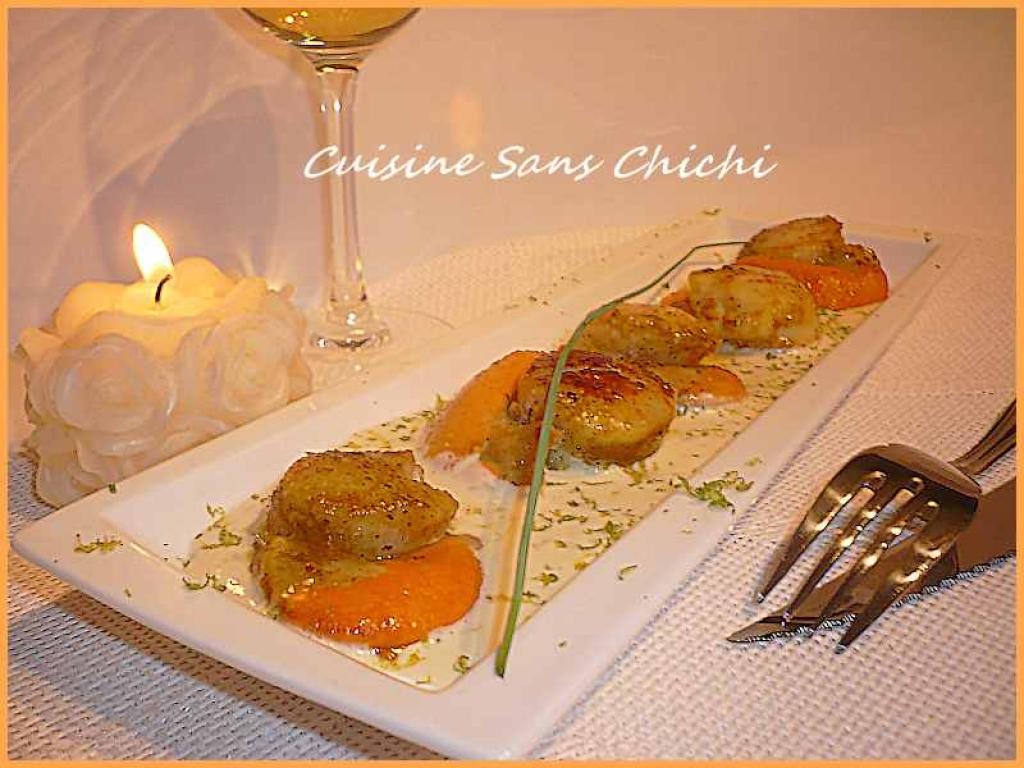 Recettes de noix de saint jacques - Noix de saint jacques curry ...