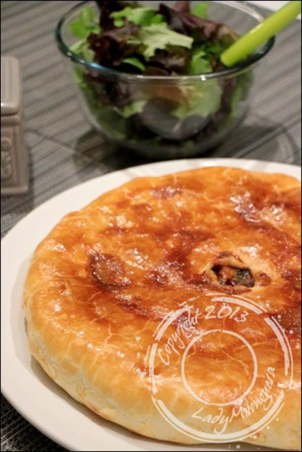 Recette tourte au poulet et champignons de paris - Champignon de paris recette poelee ...