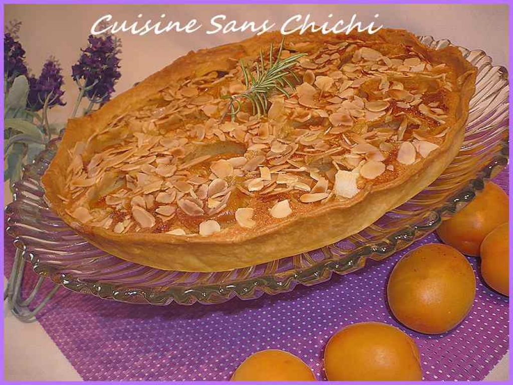 recette tarte aux abricots cr me d 39 amande et romarin. Black Bedroom Furniture Sets. Home Design Ideas