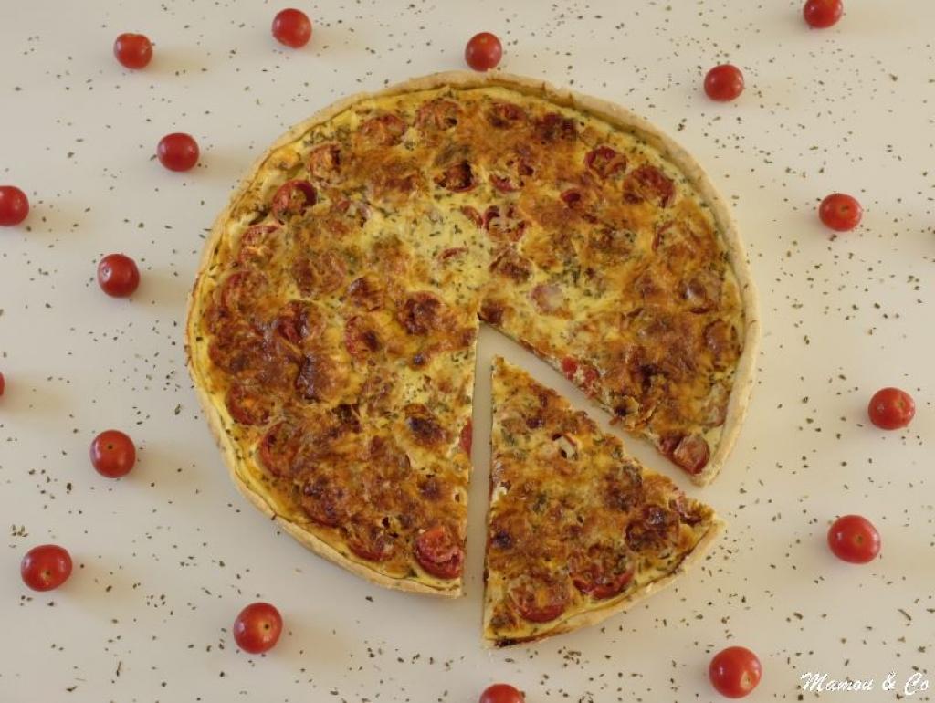 recette tarte au pesto et aux tomates cerises. Black Bedroom Furniture Sets. Home Design Ideas