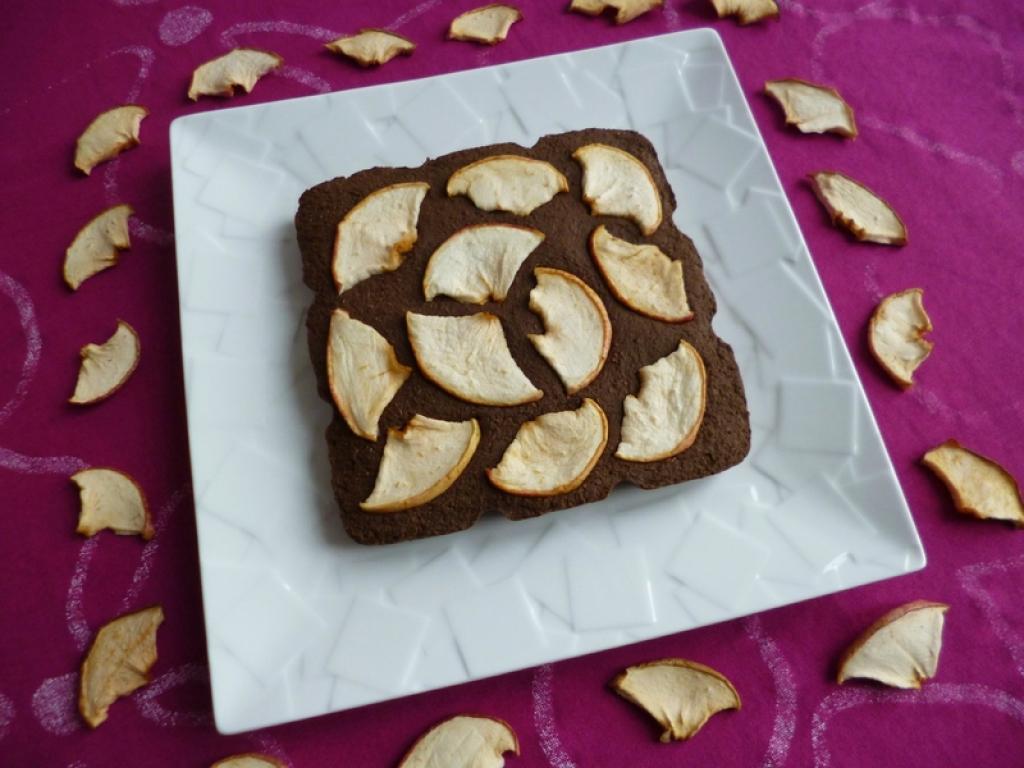 Recette g teau 100 cru cacao caroube dattes pommes aux - Gateau vegan sans gluten ...