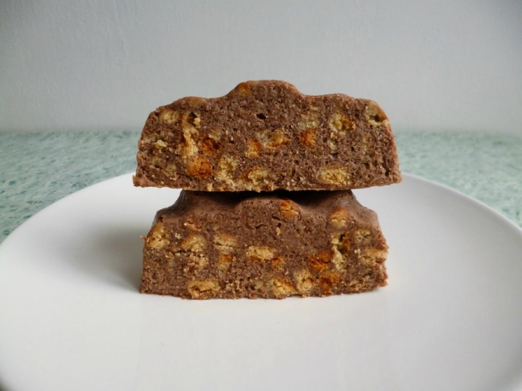 Recette g teau cru hyperprot in chocolat aux biscuits minceur nature et au psyllium - Gateau sans oeuf ni beurre ...