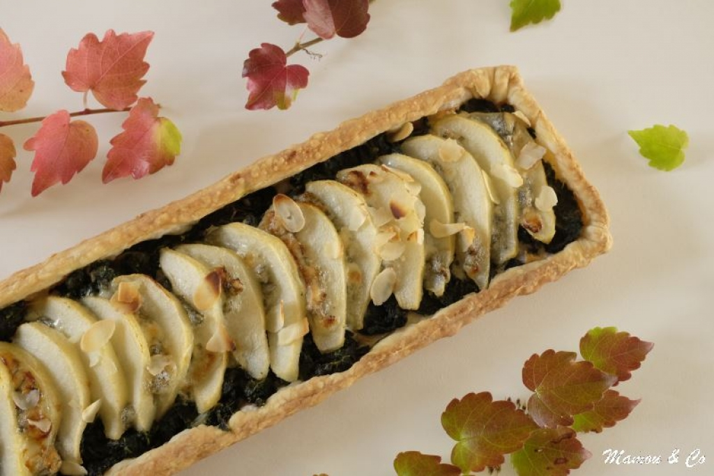 recette tarte aux poires gorgonzola et feuilles de blettes. Black Bedroom Furniture Sets. Home Design Ideas
