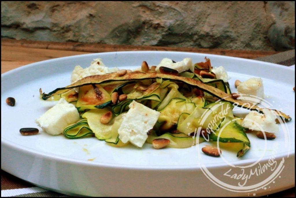 Recette salade de courgettes grill es feta et pignons - Recettes de langoustes grillees ...