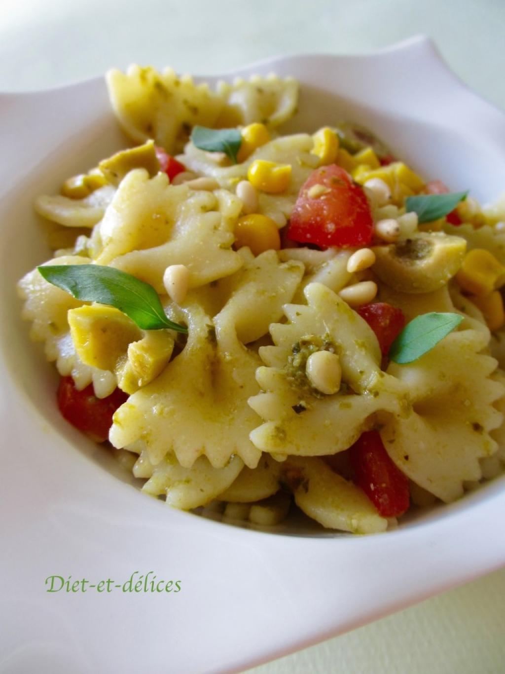 recettes salade de pates au pestos