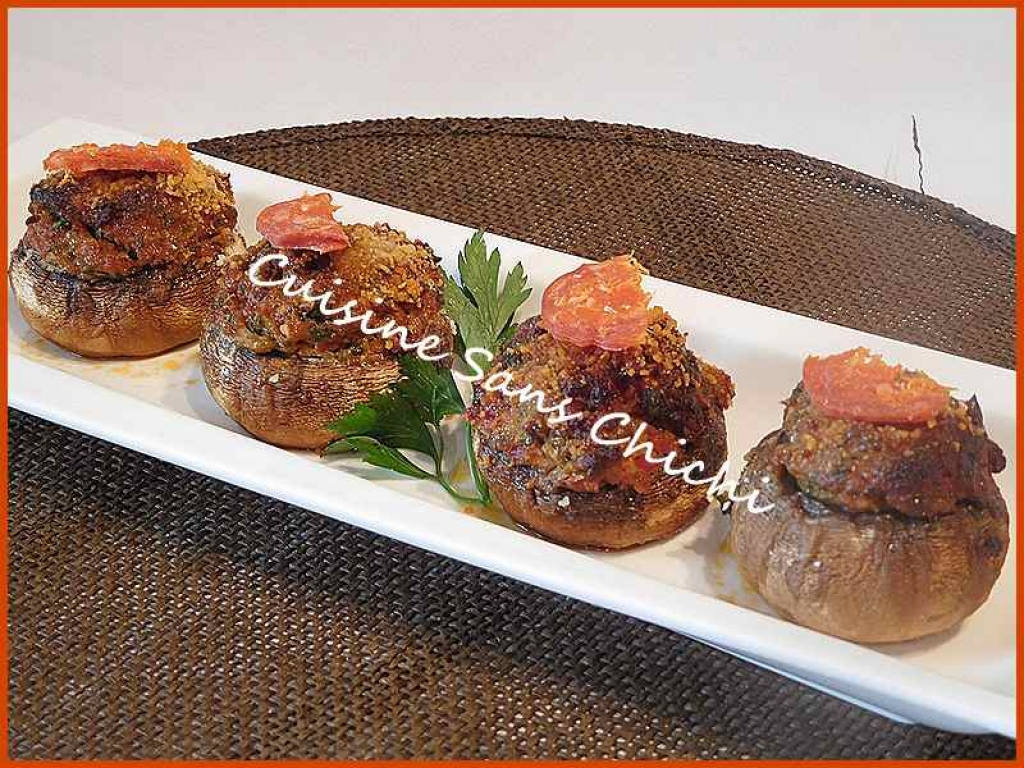 recette champignons farcis au chorizo 195607. Black Bedroom Furniture Sets. Home Design Ideas