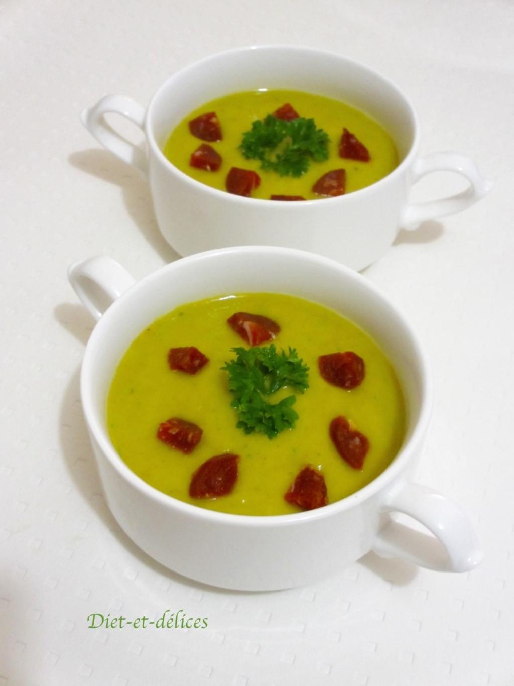 recette soupe de poireaux chorizo et persil au cook expert. Black Bedroom Furniture Sets. Home Design Ideas