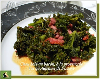 recette chou kale au bacon l 39 italienne. Black Bedroom Furniture Sets. Home Design Ideas