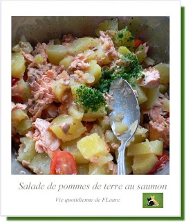 recette salade de pommes de terre au saumon. Black Bedroom Furniture Sets. Home Design Ideas